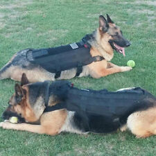 Tactical Outdoor Military Dog Clothes Load Bearing Training Vest Harness HA