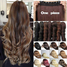 Long Full Head Real Thick Hair 3/4 Full Head Clip In Hair Extensions US STOCK