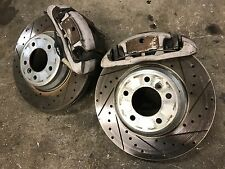 BMW E92 335i FRONT SPORT CALIPERS CALIPER BRAKE DRILLED DISK ROTOR ROTORS OEM