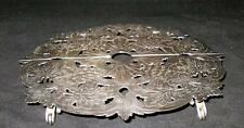 """E.G. Webster & Son Silverplate Expandable Grapes Trivet w/ Rollers 10"""" - 11 1/2"""""""