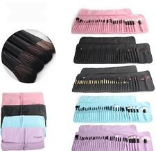 32 pcs Professional Soft Cosmetic Eyebrow Eye Shadow Makeup Brush Set Pouch/Bag