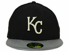 Authentic MLB Kansas City Royals Men Hat New Era 59Fifty Black Gray Fitted Cap