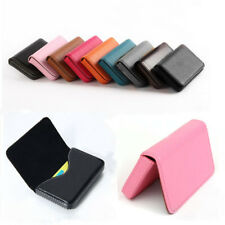 Waterproof Business ID Credit Card Wallet Holder PU Leather Pocket Case Box New