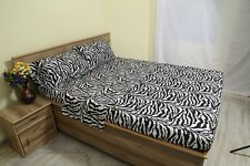 6 PCs Sheet Set Egyptian Cotton Drop 35 Cm 1000 TC Zebra Print