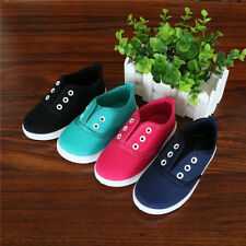 Kids Toddler Boys Girls Sneakers Children Canvas Shoes Girls Flats Slip on Shoes