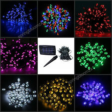1 x Solar Power 7 Colors 200 LED Light Garden Christmas Party String Fairy Lamp