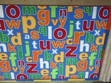 Children's bright coloured letters alphabet extra large non slip rug / play mat