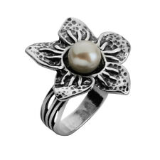 Fine Sterling Silver 925 Ring Nature White Fresh Water Pearl Jewelry