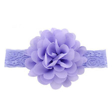 Kid Girl Baby Headband Toddler Lace Bow Flower Hair Band Accessories Headwear Pf