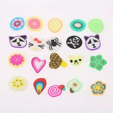 Polymer Clay Nail Art Mix Flowers Feather Fruit For DIY Acrylic Nail Multi Color