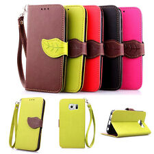 Flip Card Magnetic Stand Skin Wallet Leather Case Cover For Samsung Galaxy Phone