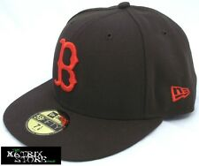 NEW ERA SEASONAL CONTRAST MLB 59FIFTY FITTED CAP - BOSTON RED SOX - BROWN