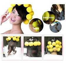 6pcs Soft Balls Red Yellow Soft Sponge Hair Care Curler Rollers Brand New gg