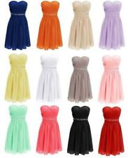 Short Cocktail Homecoming Dress Beads Sash Party Prom Formal Bridesmaid Gown G65