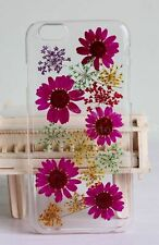 Pressed Flowers for iphone 5 5s 5c 6 6s 7 plus Samsung case cover Daisy purple