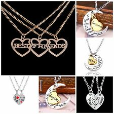 Gold/silver family & friends message quote pendants necklaces UK seller