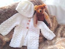 Baby Knitting Pattern C08 Easy Baby Matinee Set, Jacket, Hat, Booties, Blanket