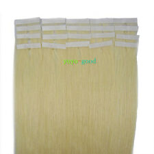 """16"""" 18"""" 20"""" 22"""" 24"""" 20pcs Tape in Remy Human Hair Extensions #60 Platinum Blonde"""