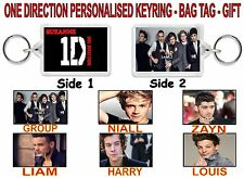 ONE DIRECTION - PERSONALISED KEYRING or BAG TAG  or GIFT - LARGE SIZE