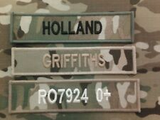 Name Tapes (Multicam MTP name tapes (x3 HOOK BACKED )  for MTP issue uniform)