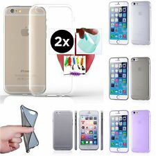 2pc Nano Glass Film+Case 0.2mm ULTRA THIN CLEAR TPU Rugged Soft Cover For iPhone