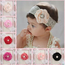7Color Kid Girl Baby Toddler Lace Flower Headband Hair Band Accessory Headwear