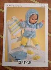 Sirdar Double Knitting Pattern for Dolls Clothes - 3122 Size 31cm to 56cmt