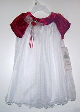 NWTS RARE EDITIONS RED/WHITE SWISS DOT HOLIDAY DRESS CHILD 3T & 4T NEW