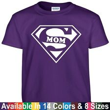 SUPER MOM Funny Mothers Day Birthday Christmas Mommy Wife Wifey Gift Tee T Shirt