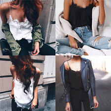 Women Girl Summer Vest Top Sleeveless Casual Shirt Tops Blouse Tank T-shirt