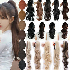 High Ponytail Clip in Hair Extensions Pony Tail Extension Claw Clip Jaw on A231
