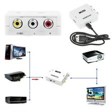 1080P Mini HDMI to RCA&3RCA to HDMI Video AV CVBS Adapter/Converter For HDTV M2