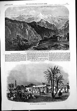 Print Hungarian Pass Himalayas Cairo Railway Station Locomotive 1856 260J763