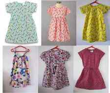 Free P&P Girls New Mini Boden Dress Blue Pink Yellow Red Flower Ages 18mth - 10y