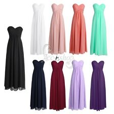 Sexy Women Ladies Chiffon Wedding Bridesmaid Long Evening Prom Gown Party Dress