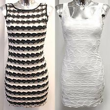 NEW LADIES TEXTURED MINI DRESS WOMENS BODYCON PARTY DRESSES CRINKLE SCALLOP TOP