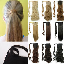 US Real Thick Clip in Hair Extension As Human Pony Tail Wrap Around Ponytail NCS