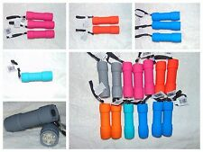 Super Ultra Bright 9 LED Flashlights Choose Your Color Batteries Included NEW