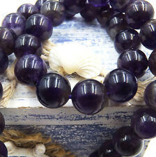Natural Gemstone Round Spacer Loose Beads Wholesale 4-6-8-10-12mm Amethyst