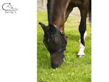 Horse Pony Full Face Fly Mask Hood With Ears And Long Nose Flap All Sizes