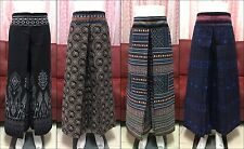 Hmong Cotton Long Pants Women Causal Trousers Thai Traditional Hippy Gypsy Style