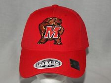 NEW Maryland Terrapins Fitted Hat Size 6 7/8 Terps NCAA Baseball Cap Head Wear