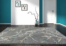 RUGS AREA RUGS 8X10 AREA RUG CARPET MODERN LARGE FLOOR GRAY FLORAL BIG RUGS NEW~