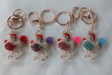 Bejewelled Rooster Zodiac Year of Rooster Key Chain Feng Shui Hanging Charm