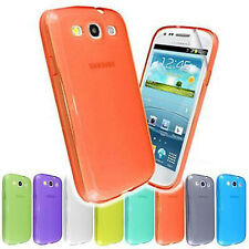 NEW TRANSPARENT CASE COVER FOR SAMSUNG GALAXY S3 i9300 + SCREEN PROTECTOR