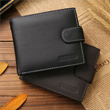 New Mens Leather Wallet ID Credit Card Holder Coin Purse Bifold Money Wallet