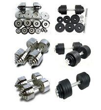 New Chrome Painted Cast Iron Adjustable Dumbbell kit set 200 105 100 52.5 lbs