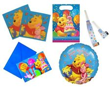 WINNIE THE POOH Birthday Party Tableware, Stickers & Accessories (Blue)