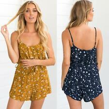 Womens Sleeveless Backless Bodycon Party Playsuit Jumpsuit Rompers Shorts V6C4