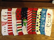 Boys Girls Leg Warmers infant baby toddler kids Christmas Snowman  one size New